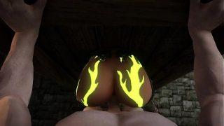 Skyrim Elf Stuck In Gloryhole Fucked From Behind