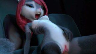 Scarlet, Furry fox redhead Girl With Sound, model by runsammya